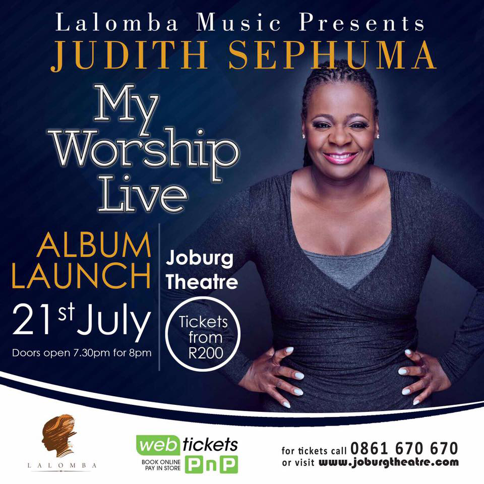Get Tickets Album Launch My Worship Live Judith Sephuma
